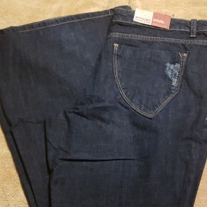 Nwt Mossimo distressed low rise bell bottom
